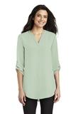 Women's 3/4-Sleeve Tunic Blouse Misty Sage Thumbnail