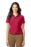 Women's Stain-resistant Polo Shirt Red Thumbnail