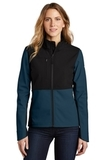 Ladies Castle Rock Soft Shell Jacket Blue Wing Thumbnail