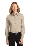 Women's Long Sleeve Easy Care Shirt Stone Thumbnail