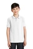 Youth Silk Touch Polo Shirt White Thumbnail