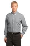 Plaid Pattern Easy Care Shirt Charcoal Thumbnail