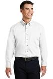 Long Sleeve Twill Shirt White Thumbnail