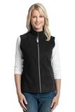 Women's Microfleece Vest Black Thumbnail