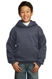 Youth Pullover Hooded Sweatshirt Heather Navy Thumbnail