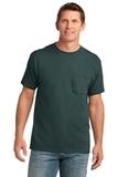 5.4-oz 100 Cotton Pocket T-shirt Dark Green Thumbnail
