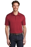 Stretch Heather Polo Red with Black Thumbnail