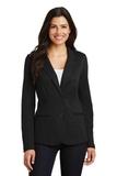 Women's Knit Blazer Black Thumbnail