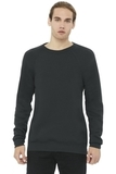 BELLACANVAS Unisex Sponge Fleece Raglan Sweatshirt Dark Grey Thumbnail