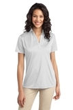 Port Authority Ladies Silk Touch Performance Polo White Thumbnail