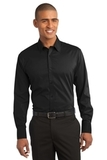 Stretch Poplin Shirt Black Thumbnail