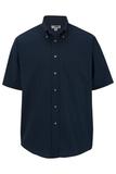 Men's Button Down Poplin Shirt SS Navy Thumbnail