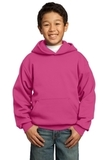 Youth Pullover Hooded Sweatshirt Sangria Thumbnail