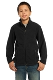 Youth Value Fleece Jacket Black Thumbnail