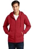 Port & Company Fan Favorite Fleece Full-Zip Hooded Sweatshirt Team Cardinal Thumbnail