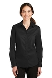 Women's SuperPro Twill Shirt Black Thumbnail