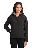 Women's Glacier Soft Shell Jacket Black with Chrome Thumbnail