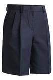 Women's Pleated Flat Front Short Navy Thumbnail