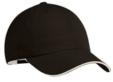 Sandwich Bill Cap Black with Beige Thumbnail