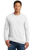 Heavy Cotton 100 Cotton Long Sleeve T-shirt White Thumbnail