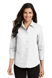 Women's 3/4-sleeve Easy Care Shirt White Thumbnail