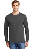 Tagless 100 Comfortsoft Cotton Long Sleeve T-shirt Smoke Grey Thumbnail