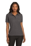 Women's Silk Touch Polo Shirt Charcoal Heather Grey Thumbnail
