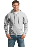Full-zip Hooded Sweatshirt Ash Grey Thumbnail