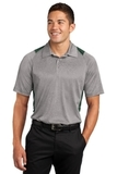 Heather Colorblock Contender Polo Vintage Heather with Forest Green Thumbnail
