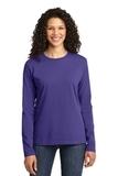 WMC Perinatal Women's Long Sleeve 5.4-oz 100 Cotton T-shirt Purple Thumbnail