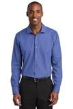 Red House Slim Fit Nailhead Non-Iron Shirt Mediterranean Blue Thumbnail