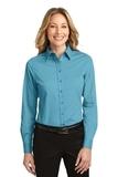 Women's Long Sleeve Easy Care Shirt Maui Blue Thumbnail