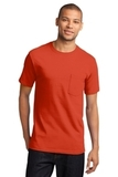 100 Cotton T-shirt With Pocket Orange Thumbnail