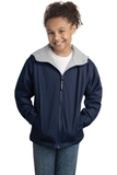 Youth Team Jacket Bright Navy with Light Oxford Thumbnail