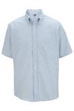 Men's Dress Button Down Oxford SS Blue Stripe Thumbnail