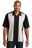 Retro Camp Shirt Black with Light Stone Thumbnail