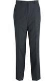 Edwards Men's Washable Wool Flat-front Dress Pant Navy Thumbnail