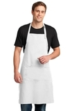 Easy Care Extra Long Bib Apron With Stain Release White Thumbnail