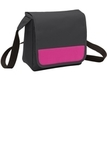 Lunch Cooler Messenger Bag Dark Charcoal with Tropical Pink Thumbnail