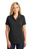 Women's Dry Zone UV MicroMesh Tipped Polo Deep Black with Graphite Thumbnail