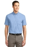 Short Sleeve Easy Care Shirt Light Blue with Light Stone Thumbnail