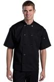 Ten Button Chef Coat With Back Mesh Black Thumbnail