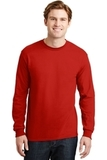 Dryblend 50 Cotton/50 Dryblend Poly Long Sleeve T-shirt Red Thumbnail