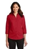Women's 3/4Sleeve SuperPro Twill Shirt Rich Red Thumbnail