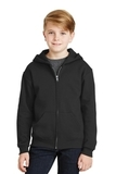 Youth Full-zip Hooded Sweatshirt Black Thumbnail