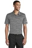 Nike Golf Dri-FIT Waves Jacquard Polo Grey Thumbnail