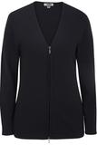 Women's Full Zip V-Neck Sweater Navy Thumbnail