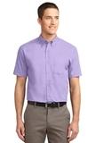 Short Sleeve Easy Care Shirt Bright Lavender Thumbnail