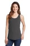 Women's 5.4 oz. 100 Cotton Tank Top Charcoal Thumbnail