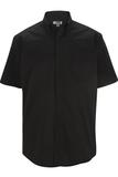 Men's Cotton Rich Short Sleeve Twill Shirt Black Thumbnail